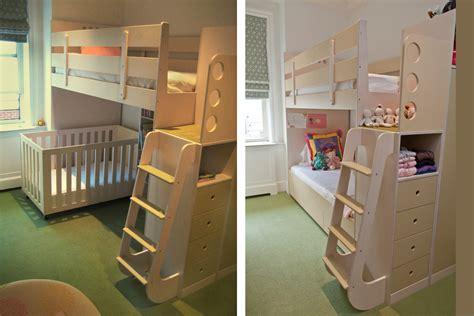 27833 bunk bed with crib underneath celia and tamsen casa