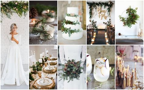 idees  inspirations pour  mariage dhiver idee
