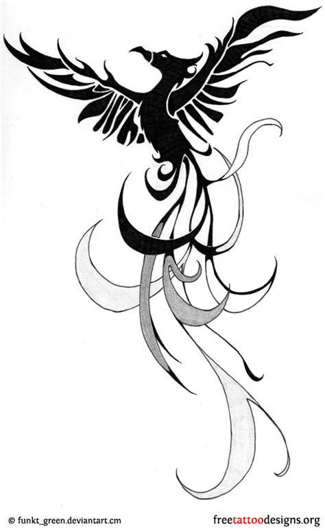 latest phoenix tattoos designs