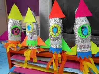 space rocket craft ideas plastic bottle recycled space crafts projects to try 5462