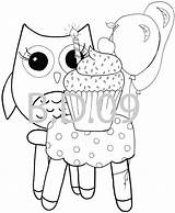 Owl Coloring sketch template