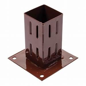 Support De Poteau : support de poteau visser 75 x 75 mm fixman 376663 ~ Melissatoandfro.com Idées de Décoration