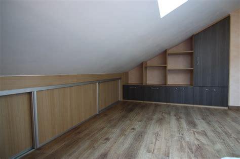 meubles de rangement bureau placard sous pente escalier voiron agencement combles