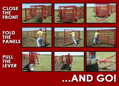 cattle corral portable corrals wheels livestock pipe system steel gobob sorting grass diamond hinged double cows fed goat fencing info