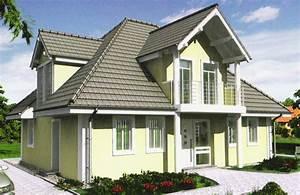 Exklusive Fertighäuser Villen : fertighaus einfamilienhaus als walmdachvilla mit mehreren gauben und giebeln sowie balkon ~ Sanjose-hotels-ca.com Haus und Dekorationen
