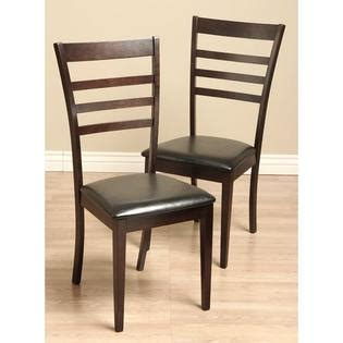 crystal leather dining room chairs set of 2 home