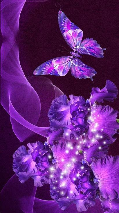Butterfly Purple Phone Mobile Wallpapers Desktop Wallpaperplay