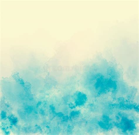 Abstract Cyan Watercolor Background Colorful Aquarelle
