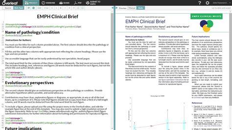 write  clinical briefs  overleaf  template