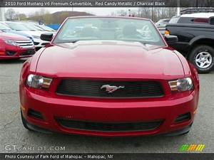 Red Candy Metallic - 2010 Ford Mustang V6 Premium Convertible - Charcoal Black Interior ...