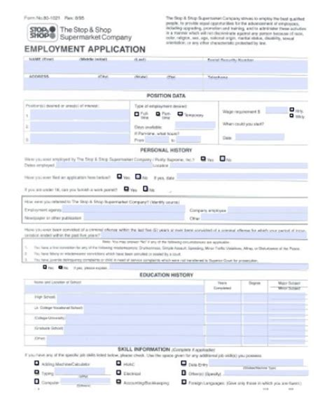 download stop and shop job application form pdf wikidownload