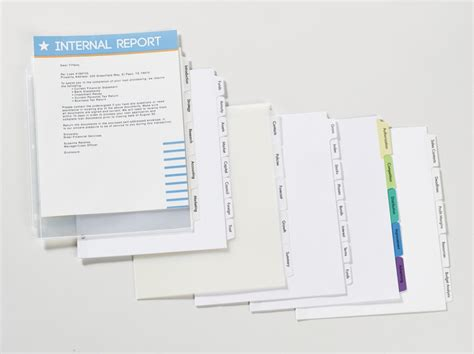 Avery Easy Apply 5 Tab Template Avery Index Maker Clear Label Dividers With Easy Apply