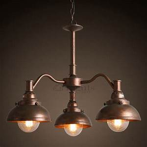 Antique light industrial type small dining room chandeliers