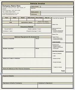 vehicle sales invoice template free invoice templates With invoice of car sale