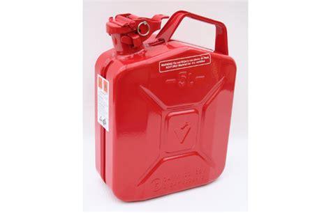 5 liter benzinkanister benzinkanister 5 liter metall ral 3000 feuerrot fahrzeugausreustung de