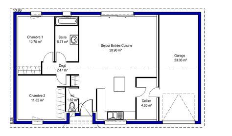 plan de maison plain pied 3 chambres avec garage lina contemporaine maisons lara