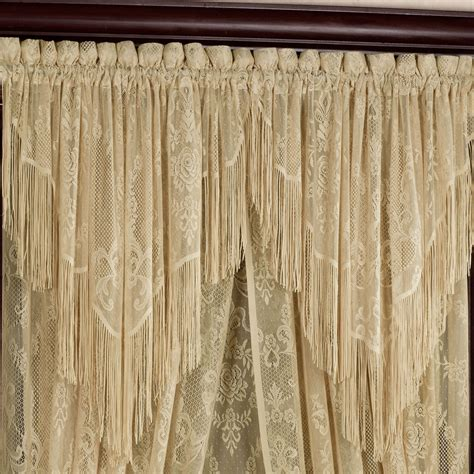 s lace ascot valance 56 x 31 touch of class