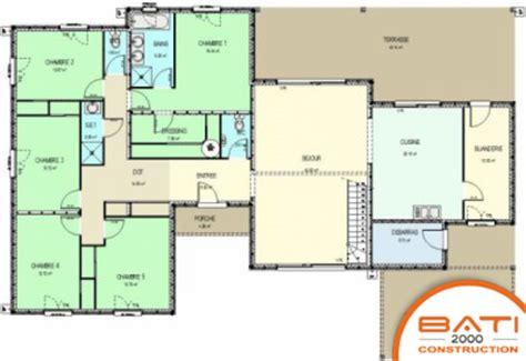 plan de maison 5 chambres plain pied gratuit plan de maison de plain pied avec 5 chambres