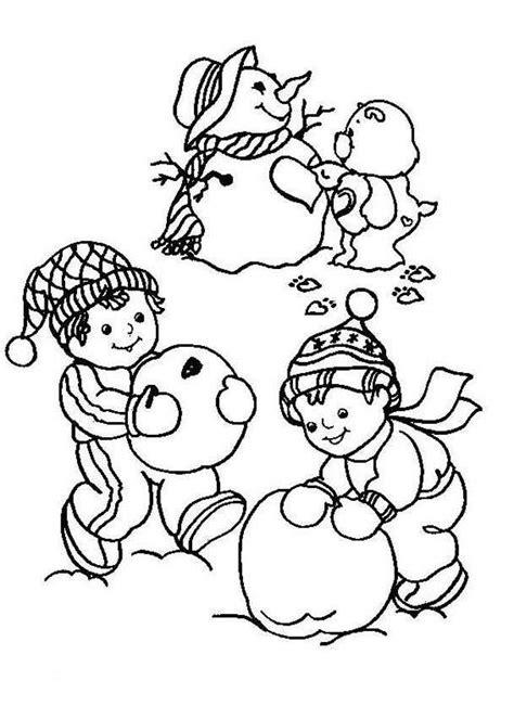 desenhos  colorir inverno