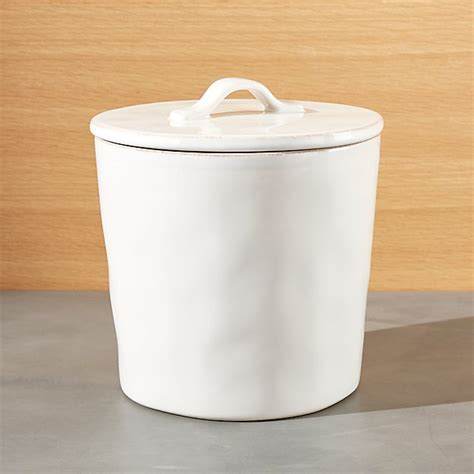 White Ceramic Kitchen Canisters by Marin Medium White Ceramic Kitchen Canister Crate And Barrel