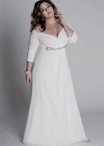 Plus size informal wedding dresses pluslookeu collection for Informal wedding dresses plus size