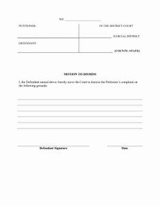 printable motion to dismiss complaint legal pleading template With template for motion to dismiss