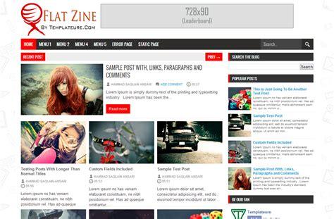 templates entertainment blog flat zine template free download
