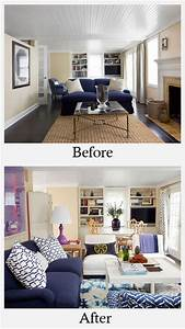 Living room makeovers before and after photos for Living rooms before and after makeover
