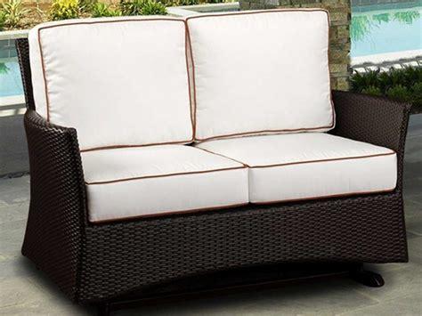 bistro bar stools northcape venice wicker cushion arm glider patio loveseat