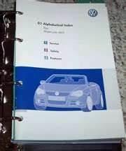 2009 Volkswagen Eos Owner U0026 39 S Manual