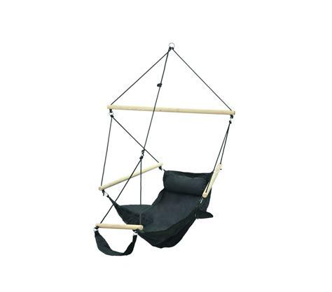 support hamac siege fauteuil suspendu design noir amazonas