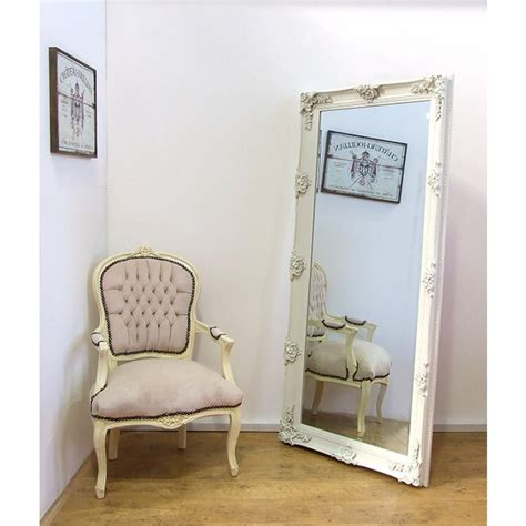 shabby chic large wall mirrors abbey large shabby chic antique style leaner wall mirror 31 quot x 65 quot cream leaner mirrors