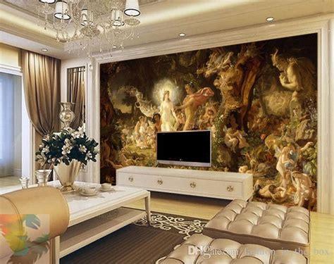 classical oil painting wall murals custom  wallpaper