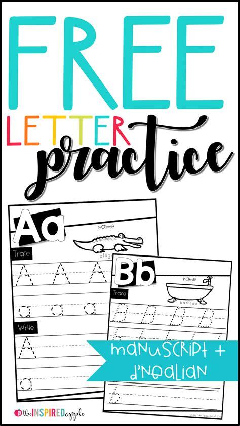 letter practice worksheets worksheets kindergarten
