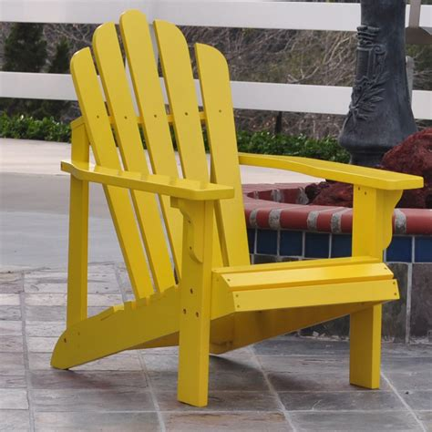 shine co 4611ly westport adirondack chair in lemon yellow