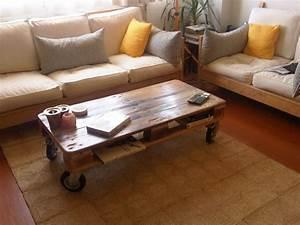 Made Com Table Basse : pallet coffee table from reclaimed wood ~ Dallasstarsshop.com Idées de Décoration