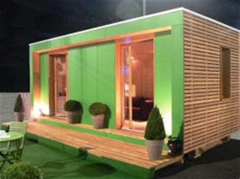 bulle de vente en bois pour promoteurs immobiliers bureau vert