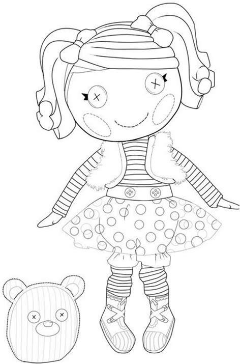 lalaloopsy coloring pages  girls  print