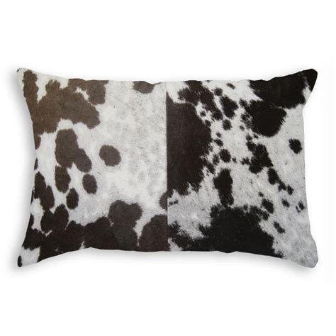 Torino Cowhide Pillow by Torino Tricolor 12 In X 20 In Cowhide Pillow