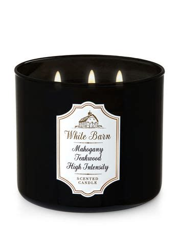 white barn candles mahogany teakwood high intensity 3 wick candle white