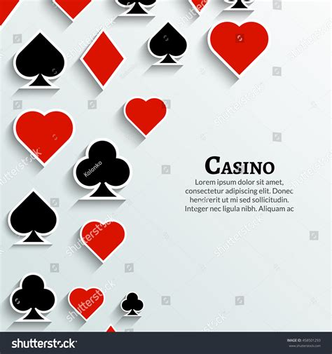 vector playing cards symbol background casino stock vector