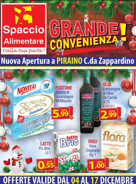 spaccio alimentare offerte volantino spaccio alimentare 4 17 dicembre 2015 volantino az