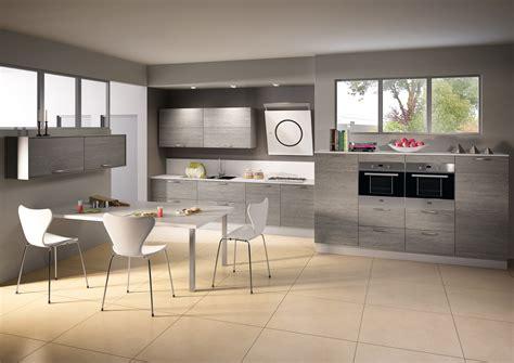 cuisine mod鑞e photo cuisine grise et bois maison design bahbe com