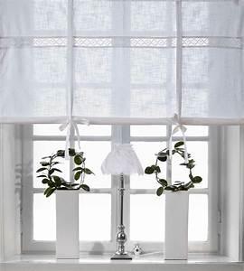 Raffrollo Landhaus Shabby : julia weiss raffrollo 160x120cm vorhang raffgardine ~ Watch28wear.com Haus und Dekorationen