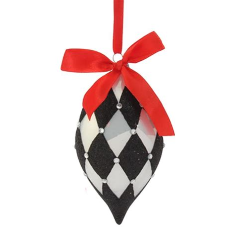black and white christmas ornaments new raz 4 quot black and white harlequin glass christmas ornament 3622807 ebay