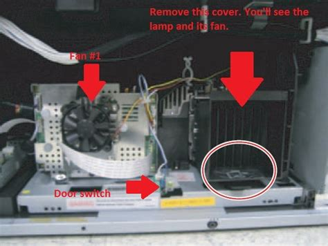 how to replace the l in a tv how do you replace fan no 2 on model hl72a650c1f