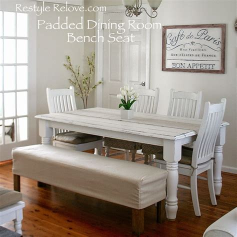padded dining room bench seat  removable washable drop
