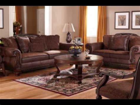 bradington truffle living room set  ashley furniture
