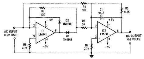 Precision Full Wave Converter Circuit Diagram