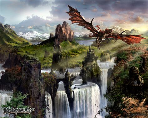 Fantasy Dragon Rapsody Wallpaper From Dragons Wallpapers